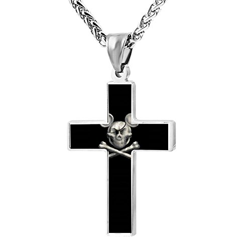 Wine Jianxian Dead Mice Tell No Tales Zinc Alloy Cross Pendant Necklace For Easter,Birthday Gifts Jewelry, Chain Included