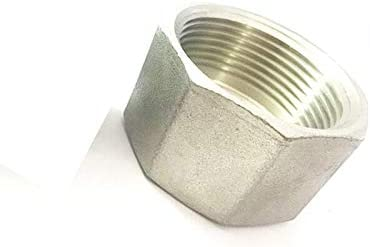 DP-iot 1-1//4 BSP Female Thread 304 Stainless Steel Pipe Fitting Hex Head Socket Plug End Cap for Water Oil Air