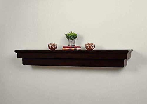 "Salem 72"" Fireplace Mantel Shelf with Corbel and Arch - Aged Espresso"