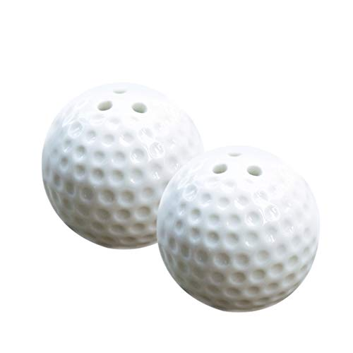 SM SunniMix Pack of 2pcs Golf Ball Design Salt and Pepper Shakers for Table Decoration Wedding Party Gift ()