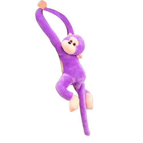 Vosarea Plush Monkey Long Arm Tail Hanging Monkey Doll Curtain Decoration Mascot Gift (Purple) 21 Inch