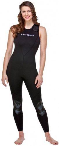 NeoSport Wetsuits Women's Premium Neoprene 7mm Jane,All Black, 12 - Diving, Snorkeling & Wakeboarding by Neo-Sport