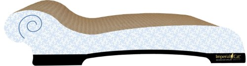 Imperial Cat Chaise Scratch and Shape, Victorian Blue