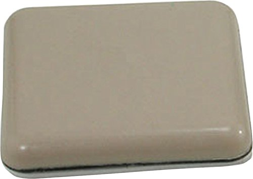 Shepherd Hardware 3949 2-Inch Adhesive, Square, Slide Glide Furniture Sliders, 4-Pack