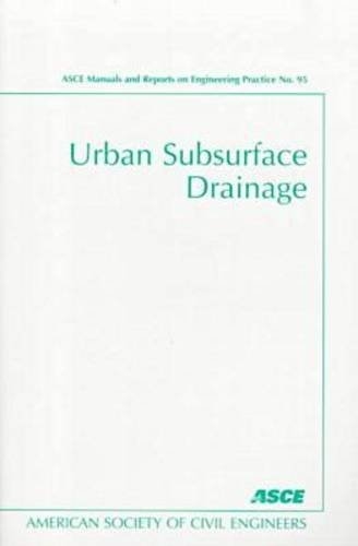 buy urban subsurface drainage manual asce manuals and reports on rh amazon in ASCE Construction Manual asce manual 41
