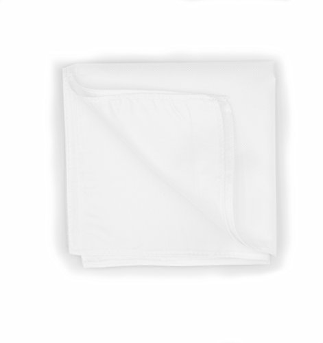 3-Pack of 100% Pure White Silk Pocket Square with Luxurious Texture