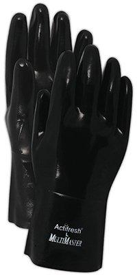 Handmaster Coated Gloves Neoprene Fits All Knit Black Pair