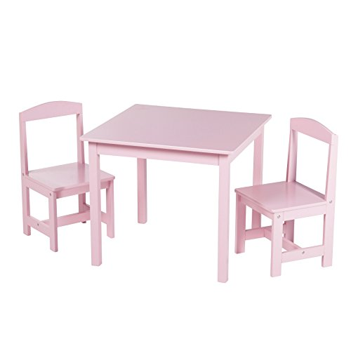 Target Marketing Systems 91120PNK 3 Piece Hayden Kids Table and Chair Set, Pink by Target Marketing Systems