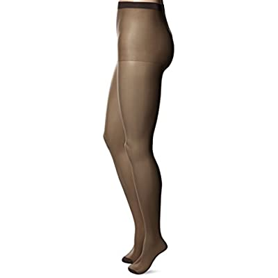 No Nonsense Women's Ultra Sheer Regular Pantyhose with Reinforced Toe 3-Pack at Women's Clothing store
