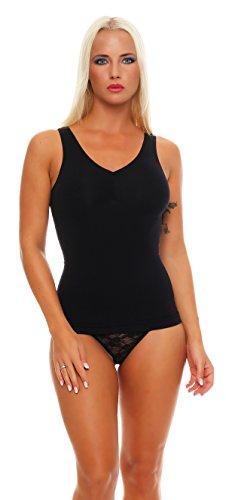 2 Stück Damen Form-Unterhemden Shapewear sanft formend verschiedene Farben kaschiert Taille und Bauch ohne Nähte Seamless Gr. 40/42
