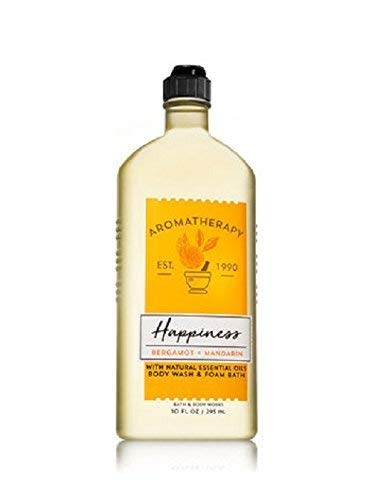 Mandarin Foam (Bath and Body Works Aromatherapy Happiness Bergamot and Mandarin Body Wash and Foam Bath 10 ounces)