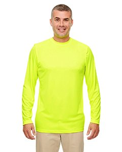 Ultraclub Men's Cool & Dry Performance Long-Sleeve Top, Bright Yellow, 3Xl - Bright Yellow T-shirt Tee