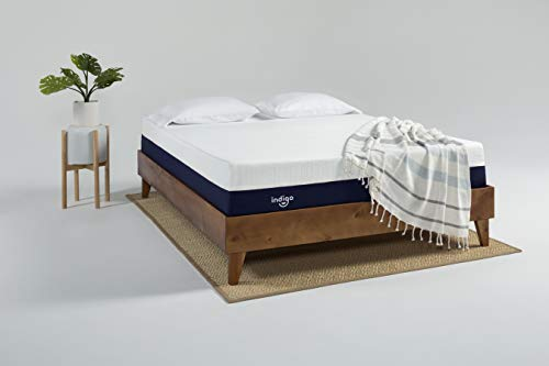 Indigo Sleep Customizable Mattress, Classic Soft, Supportive and Cooler Gel Memory Foam Sleep Experience for Couples, Custom Comfort, CertiPUR-US, Non-Toxic, Patented Clean Design Queen