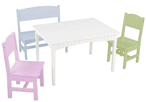 Prime Kidkraft Nantucket Table With Bench And 2 Chairs Pastel Short Links Chair Design For Home Short Linksinfo