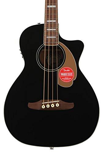 Fender Kingman Acoustic Bass Guitar (V2) – Black – with Bag – Walnut Fingerboard