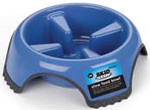 Skid Stop Slow Feed Bowl - Medium (Color May Vary)