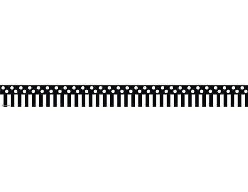 Teacher Created Resources Black Stripes and Polka Dots Straight Border Trim (5501) ()