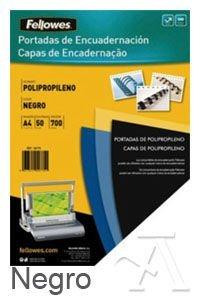 Amazon.com : PACK 50 PORTADAS A4 PP 700 MICRAS COLOR NEGRO : Office