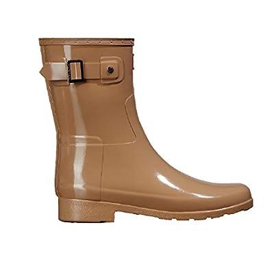 Hunter Original Women's Short Refined Gloss Rain Boot, Tawny