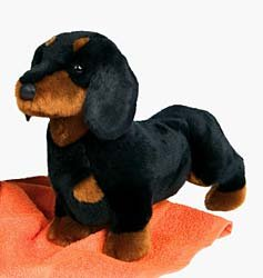 Plush Animal: Dachshund, Black & Tan