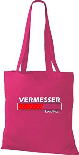 JUTA Borsa di stoffa vermesser LOADING VARI COLORI - rosa, 38 cm x 42 cm