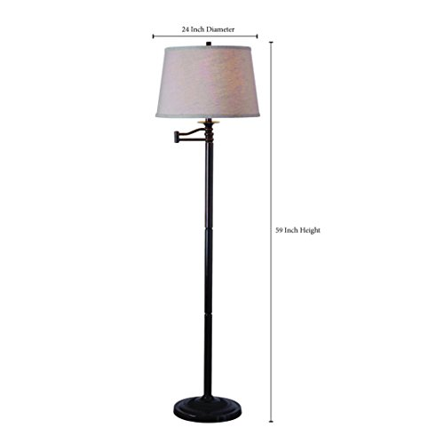 Kenroy Home 32215CBZ Riverside Swing Arm Floor Lamp, 16'' x 16'' x 58'', Copper Bronze Finish by Kenroy Home (Image #2)
