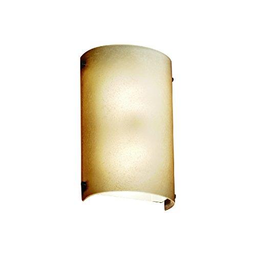 Justice Design Group Lighting Fsn 5541 Crml Dbrz Led1 1000 Fusion Finials Cylinder Wall Sconce Caramel Led  Dark Bronze