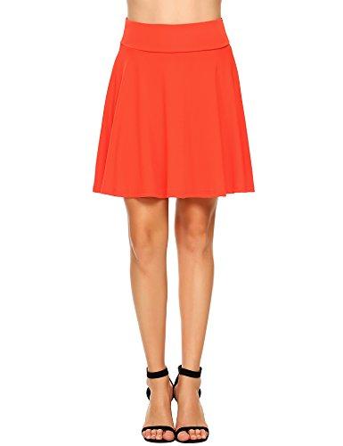 Zeagoo Women's UPF 50+ Golf Running Workout Swim Tennis Athletic Sports Skirt with Elastic Waist Watermelon Red Medium