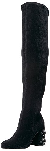The Fix Women's Sophia Embellished Block Heel Over-The-Knee Boot, Black, 10 B - Style Sophias