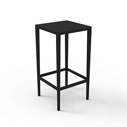 Vondom Spritz mesa alta de exterior 50x50 cm h.100 cm negro ...