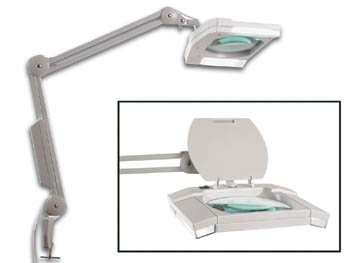 Veka Lampe Loupe De Bureau Bricolage Table Sur Pied Avec 2 Neons X