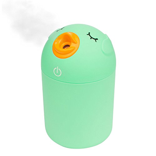 Cool Mist Humidifier For Babies, USB Port, Cute Space-Saving Ultrasonic Humidifiers for Bedroom Car Office Babies, Whisper-Quiet, Filter Free, Automatic Shut-off
