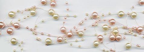 Pink & Ivory Pearl Beaded Garland - Elegant Wedding Decoration