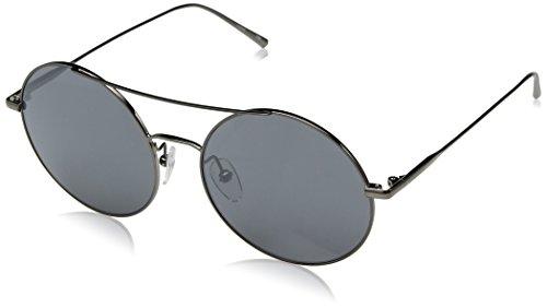 Calvin Klein Women's Ck2156s Round Sunglasses, Gunmetal, 54 mm by Calvin Klein