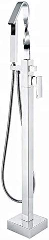 ShiSyan シャワーシステム、 ハンドヘルドシャワーヘッドキット自立可変温度バスタブシャワーセットバスルームシャワーヘッド(バス&シャワーの蛇口のタイプ:露出B +アンペア; S水栓) シャワーヘッド セット 節水