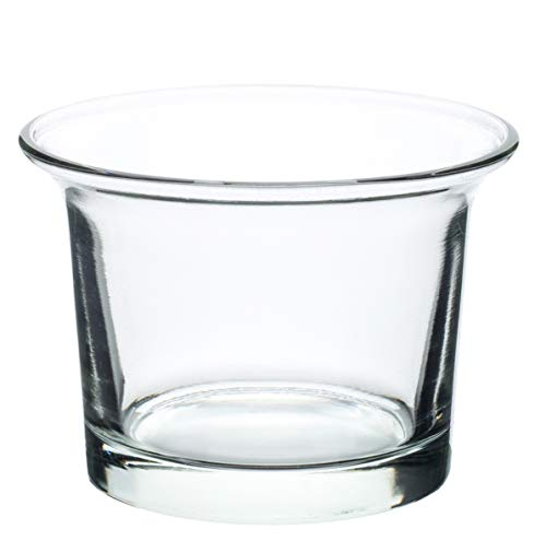 Royal Imports Candle Holder Glass Votive Wedding, Birthday, Holiday & Home Decoration, Oyster, Set of 12 - Unfilled