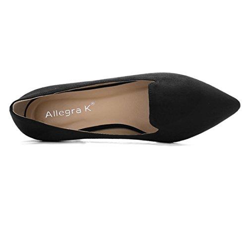 Enfiler Femmes Black Semelle K Appartements Chaussures À Sans Allegra Lacets t5w1qF