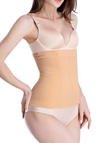 Waist Shapewear Cincher Body Shaper Corset Postpartum Belly Band Wrap C Section Tummy Control Binder Girdle for Women (Beige, Medium/Large) (Tummy Belt Waist Shaper)