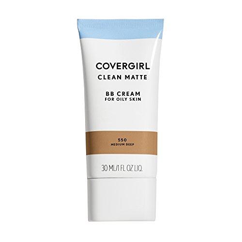 COVERGIRL Clean Matte BB Cream Medium/Deep 550 For Oily Skin, 1 oz (packaging may vary) (Deep Medium Skin)