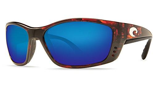 Costa Del Mar Fisch 580P Fisch, Tortoise Frame Global Fit Blue Mirror, BLUE - Fisch Mar Del Costa Sunglasses
