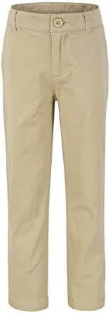 Bienzoe Big Boy's School Uniforms Flat Front Adjust Waist Pants