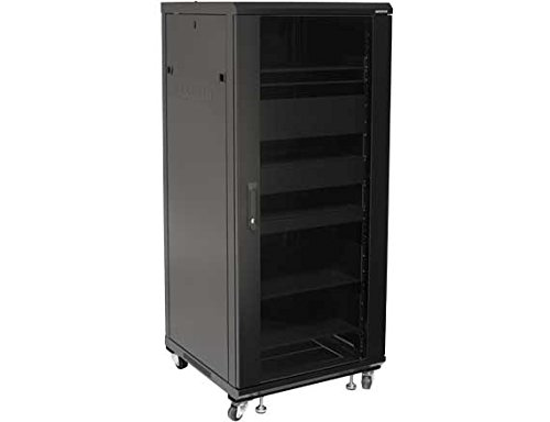 Sanus CFR2127-B1 27U Rack with Shelves and Blanks Black