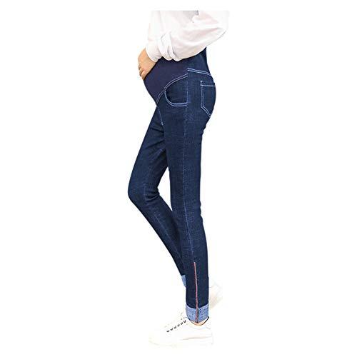 Donne Libero Addensare The Maternità Hzjundasi Tempo Over Abiti Bump Di Jeans Incinte Blu Pantaloni Magro Premaman Denim Caldo nq778YX