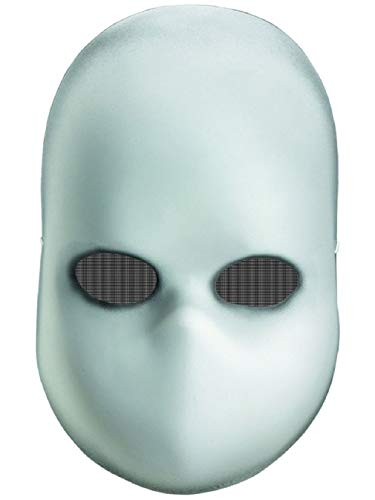 New Scary Halloween Costume Adult's Blank White Baby Doll Face Mask Facemask ()