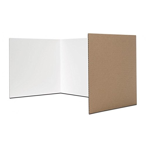 Pack of 24 Corrugated Study Carrels or Privacy Shields (18x48in; White) - only $4.17 each! by Flipside