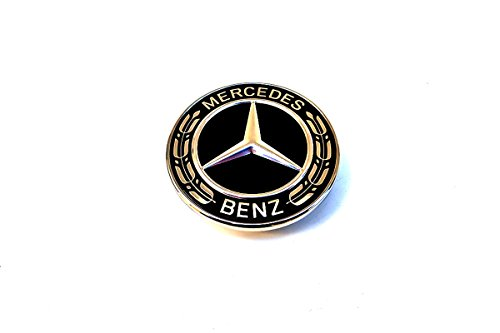 1990-ON MERCEDES W164 W207 W209 W215 C & E CLASS GENUINE FLAT HOOD EMBLEM BLACK