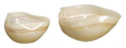 Buy ok lighting glass fruit bowl set