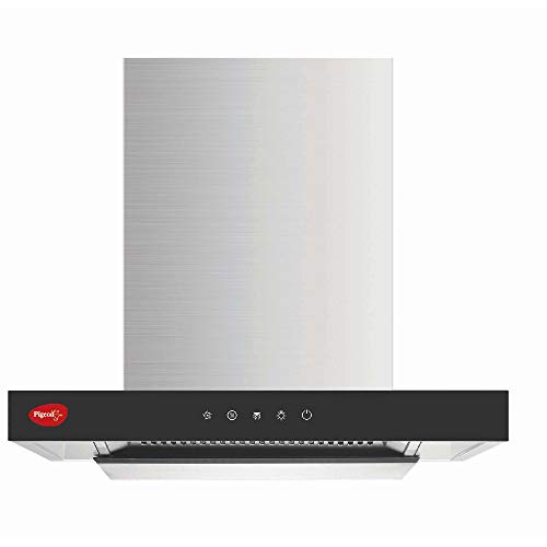 Pigeon by stovektraft Neo 60 cm with Airflow 1500 m3h Baffle Filter Auto Clean Chimney with Smoke Detector (Feather Touch Controls, Black), Large (14115)