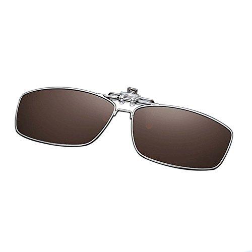 Marrón Sol de Reflejante Hzjundasi UV400 Metal Lectura Portección Rectangular Vintage Eyewear Hombre Sunglasses Mujer Metálico Anti Gafas Conducir Polarizadas wqBRp