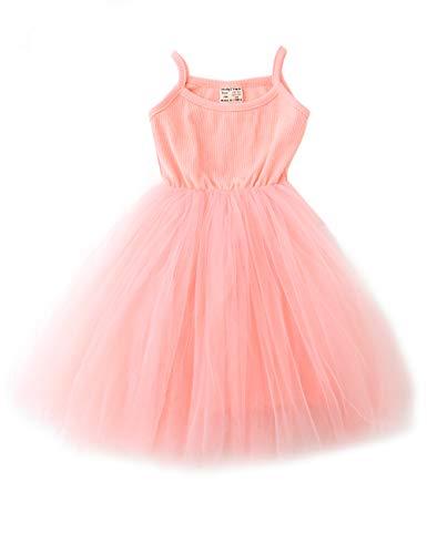 (Baby Girls Tutu Dress Sleeveless Infant Toddler Sundress Tulle Bubble 5 Layers)